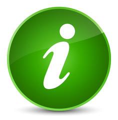 Info icon elegant green round button