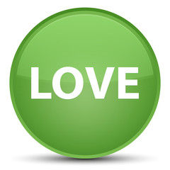 Love special soft green round button