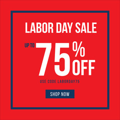 Labor Day Sale Text Treatment, Vector Illustration