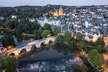 Town Wetzlar at dusk, Germany