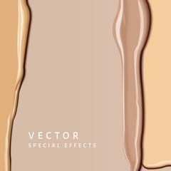 Foundation smear texture