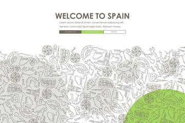 Spain Doodle Website Template Design