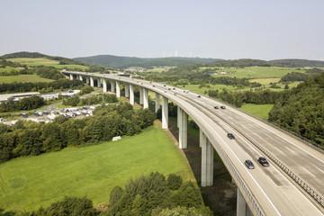 Traffic on the german highway