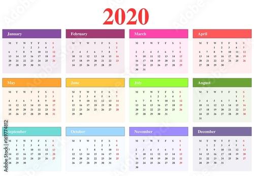 Calendrier 2020 photo libre de droits sur la banque d 39 images image 169774812 - Calendario da tavolo con foto proprie ...