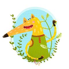 Fox portrait in wild.