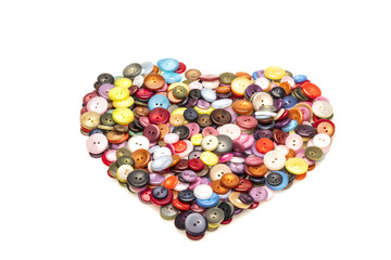 Heart shaped Buttons