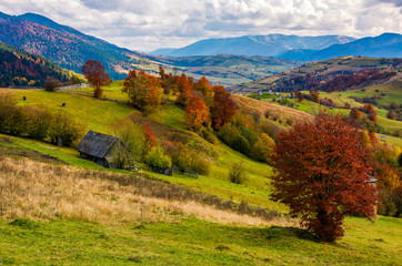 stunning rural landscape in mountains