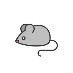 rat or mouse outline icon with fill colour