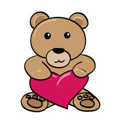 Teddy Bear with a Heart