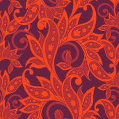 Floral wallpaper. Seamless vector pattern
