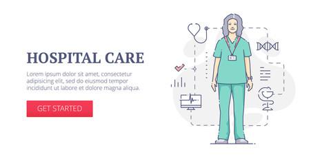 Hospital care web banner
