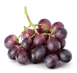 Fototapete - Red grape berry bunch isolated on white background cutout