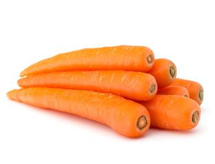 Fototapeta Sweet raw carrot tuber isolated on white background cutout obraz