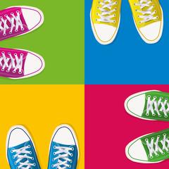 chaussure - jeune - fond - mode - magasin - soldes - basket - publicité