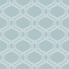 Seamless vector ornament. Modern blue and white background. Geometric modern pattern