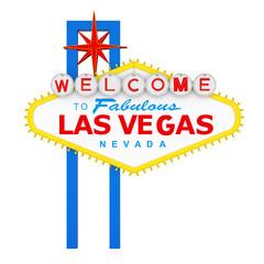 Keuken foto achterwand Las Vegas Welcome to Fabulous Las Vegas Sign Isolated
