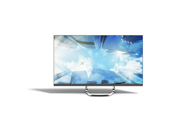 4k monitor 3d render image on white background
