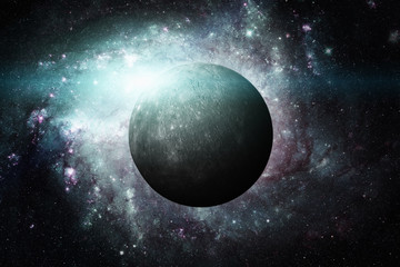 Planet Mercury. Outer space background. Elements of this image furnished by NASA.