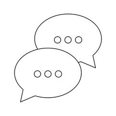 speech bubbles icon over white background vector illustration