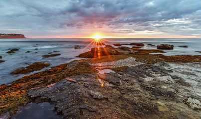 Sunburst Sunrise Seascape