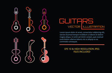 Concert Poster vector template design