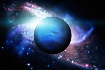 Planet Neptune. Outer space background. Elements of this image furnished by NASA.
