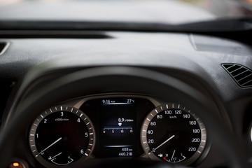 Dashboard Car display digital indicator.