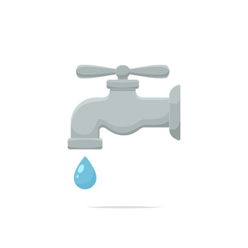 Faucet vector isolated illustration