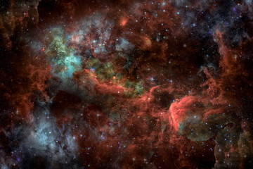 Starry deep outer space - nebula and galaxy. Elements of this image furnished by NASA