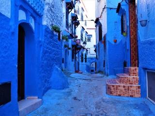 Deurstickers Blue City in Morocco