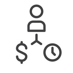 Business finance strategy line icon, outline vector sign, linear style pictogram isolated on white. Symbol, logo illustration. Editable stroke. Pixel perfect graphics