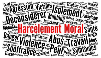 Harcèlement moral nuage de mots