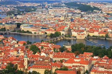 Vue panoramique de Prague