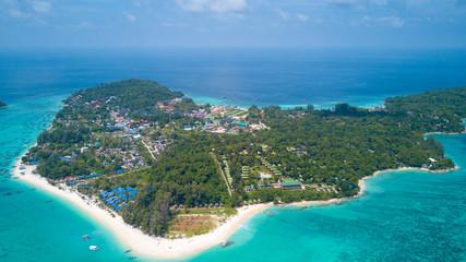 High Aerial Ko Lipe Island Overview Thailand