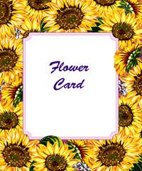 Luxury, lush flowers, postcard, sticker