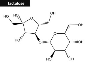 Molecular structure of Lactulose