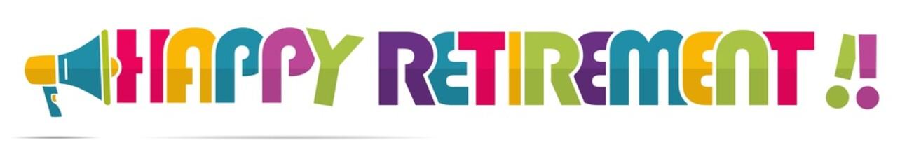 mégaphone mot : Happy retirement !!