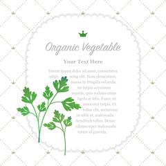 Colorful watercolor texture nature organic fruit memo frame parsley