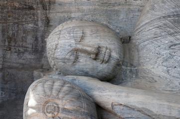 Budha statue in Polonnaruwa Sri Lanka