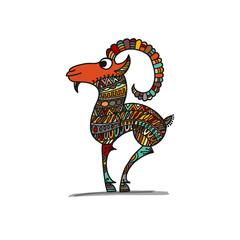 Goat, sketch for your design