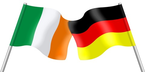 Flags. Ireland and Germany