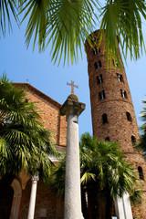 Cross on the pillar
