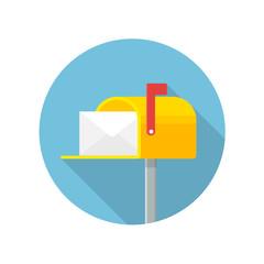 Mailbox flat icon vector