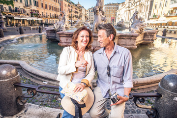 Senior couple in Rome