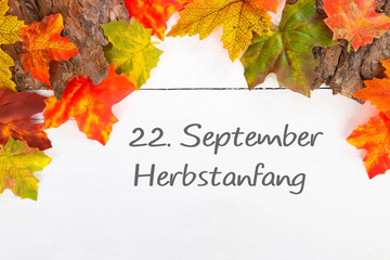22. September Herbstanfang