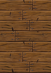 Hand Painted planks cartoon style seamless texture vertical version