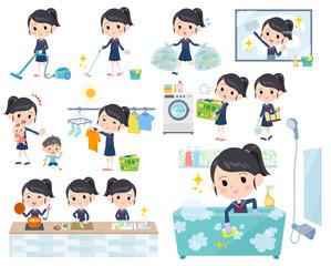 school girl Sailor suit_Housekeeping
