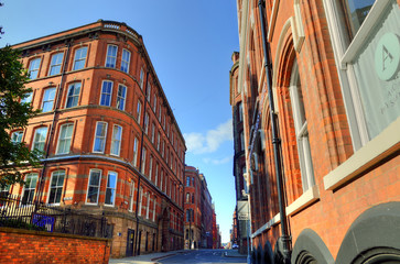 Old architecture in Nottingham, England..