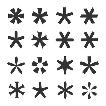 Asterisk icon set