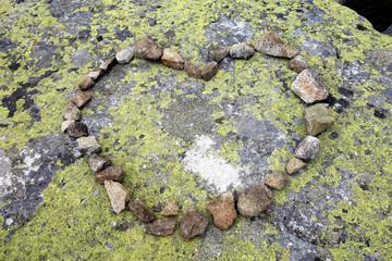 Stone heart of love